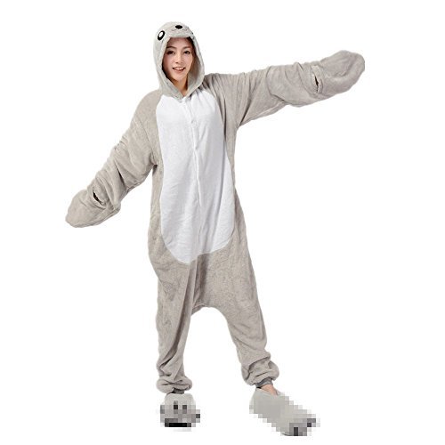 Kenmont Jumpsuit Tier Cartoon Einhorn Pyjama Overall Kostüm Sleepsuit Cosplay Animal Sleepwear für Kinder / Erwachsene (X-Large, Polar (Halloween Polar Bear Kostüme)