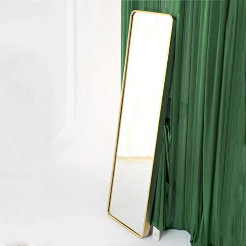 Floor Spiegelschrank (Nordic Simple Gold Floor Ganzkörperspiegel Schlafzimmer Badezimmer Badezimmer Rechteckige Spiegel Ganzkörperspiegel)