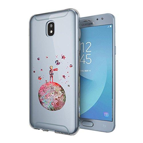 Galaxy J3 2017 Silikon Hülle samsung Galaxy J3 2017 Hülle Design Carino Case TPU Sweatproof niedliche Tiere Anti-Scratch Anti-Scratch Hülle für Galaxy J3 2017 Piccolo Principe