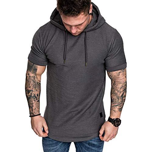 Slim Fit Lässige Große Größe Kurzarm Hoodie Top Bluse ()