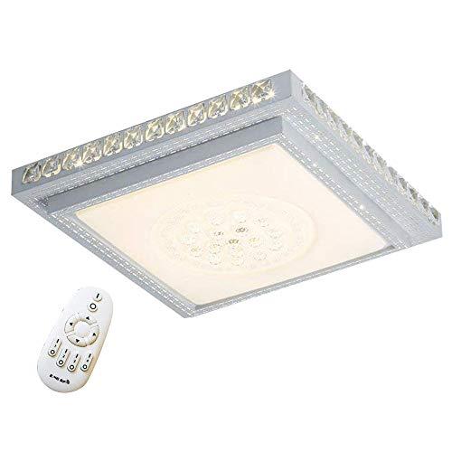 36W LED Kristall Deckenleuchte Starlight-Effekt Quadrat Deckenlampe Wohnzimmer Flurleuchte Wohnraum Deckenbeleuchtung Esszimmer Badlampe Wand-Deckenleuchte (36W Dimmbar) -
