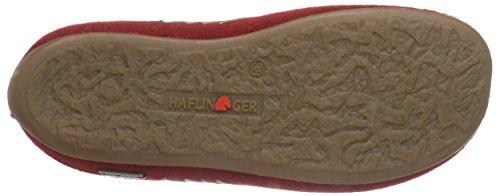 HaflingerTape - non imbottite Ciabatte donna Rosso (Red - Rot (42 paprika))