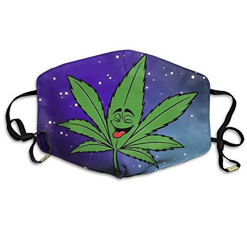 ske,Wiederverwendbar Anti Staub Schutzhülle,Ganja Leaf Weed Smokers Reusable Anti Dust Face Mouth Cover Mask,Warm Windproof Mask ()
