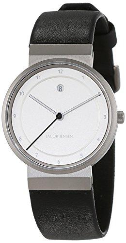 Jacob Jensen Women's Quartz Watch Analogue Display and Leather Strap DIMENSION SERIES ITEM  NO.: 871
