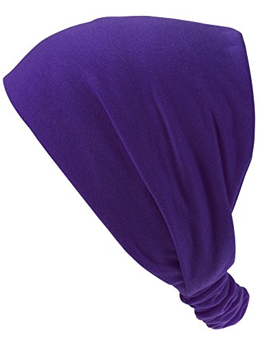Harrys-Collection Damen Mädchen Haarband in 14 Unifarben, Farben:lila, Kopfgröße:Einheitsgröße