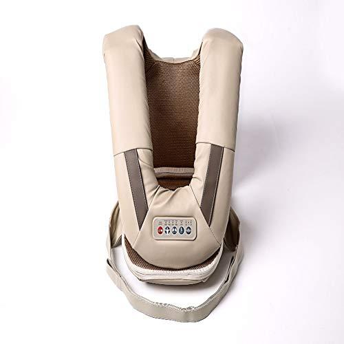 Massagegerät Handmassagegerät Kabelloses Wiederaufladbar Mit Massageköpfen Modi Und Intensität Perkussion Punktmassage Für Nacken Schulter Rücken Taille Beine Fuß,Beige