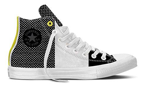 Converse Chuck Taylor All Star II, Sneaker a Collo Alto Unisex – Adulto Mehrfarbig (White/Black/Fresh Yellow)