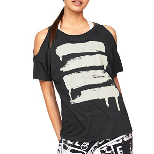 ZIYOU T-Shirts Damen, Frau Casual Bekleidung Trägerloser Tops Tank Shirts Sport Yoga (Schwarz, XL) (Uhren Damen-bekleidung : Weiß)