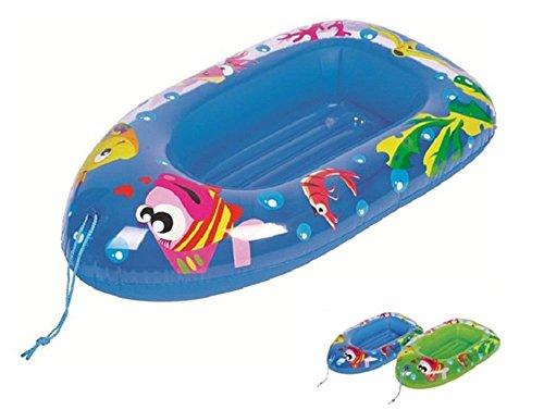 OKCS Gummiboot für Kinder Schlauchboot Pool Schwimmen Strandboot Junior Schwimmbad Badespaß - in Blau