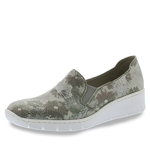 Rieker Ladies 537b0 Slipper Grau (grau)