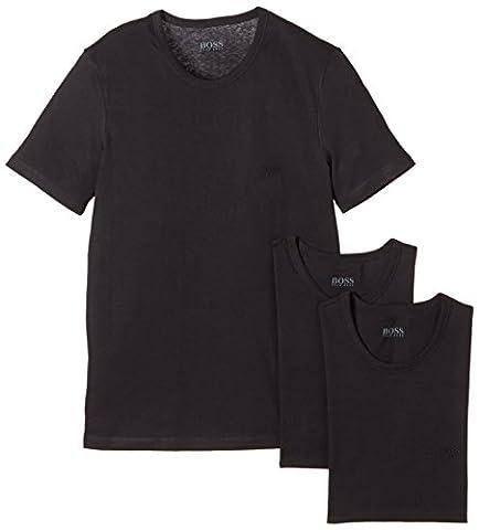 BOSS Hugo Herren T-Shirt SS RN 3P BM 10111875 02, 3er Pack, Einfarbig, Gr. X-Large, schwarz (Black 1)