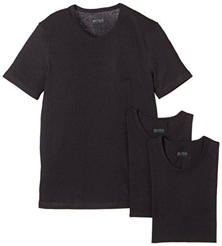 BOSS Hugo Herren T-Shirt SS RN 3P BM 10111875 02, 3er Pack, Einfarbig, Gr. Medium, schwarz (Black 1)