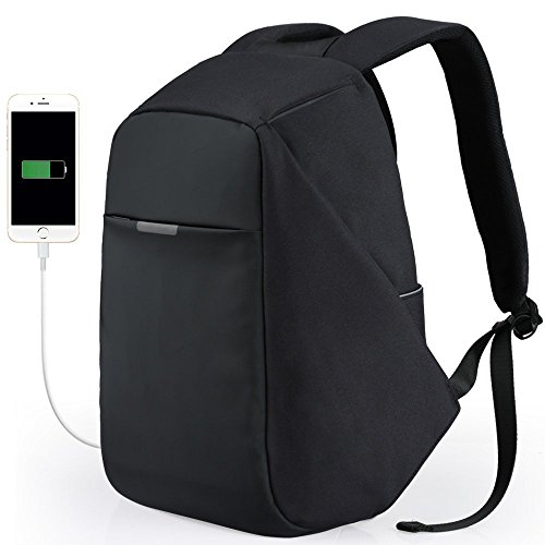 Viaggio Zaino Anti-furto Business Laptop Zaino Impermeabile Borsa College Con Porta USB Di Ricarica Oxford Spinning Rotating Backpack Riding Travel Backpack Unisex Bag (Color : Black)