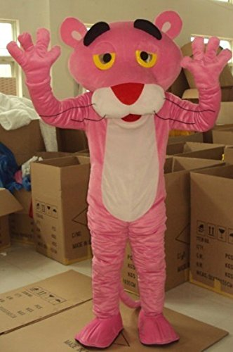 Pink Panther Panter Maskottchen Kostuem Erwachsene (Kostüm Pink Panther)