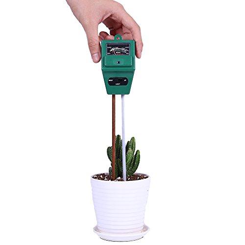 Kottle Boden-pH Meter 3-in-1-Boden-Tester für Feuchtigkeit, Licht und pH/Säure zu testen, ideal für Indoor und Outdoor-Einsatz (keine Batterie erforderlich)