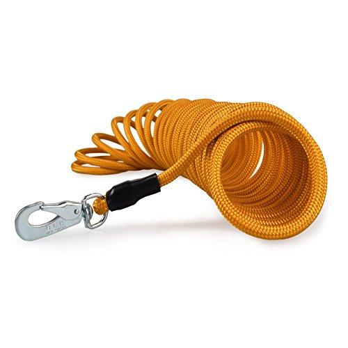 Feldleine o. Schleppleine, 15m x 6mm, orange, schwimmt