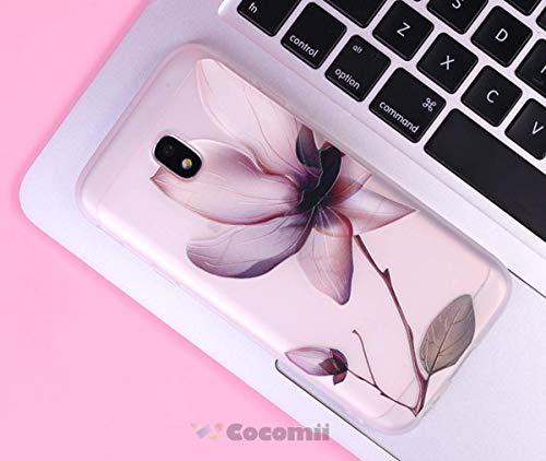Cocomii Cute Armor Galaxy J7 2017/J7 Pro Hülle NEU [Fühlt Sich Gut In Der Hand] Hübsch 3D-Muster Relief Silikon Stoßfest Gehäuse Case Schutzhülle for Samsung Galaxy J7 2017 (C.Lotus Flowers) -