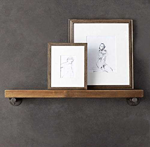 TentHome Retro Wandregal Holz Bücherregal Schweberegal Hängeregal Wandboard Küchenregal Holzregal Wand (80x20x 3cm)