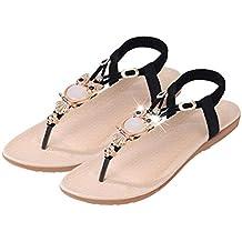 Sandales GongzhuMM Sandales Plates Femme Sandales Compensees Femme  Chaussures Plates Chaussures de Plage Ballerine Escarpin Chaussures 58bca770b74e