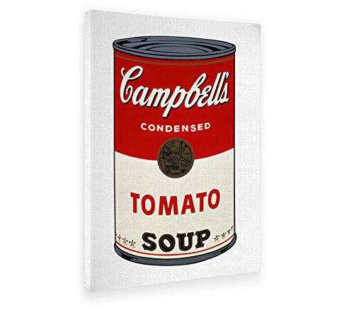 GIALLO BUS - BILD - DRUCK AUF LEINWAND - ANDY WARHOL - CAMPBELL'S SOUP CANS - POP ART - 50 X 70 cm