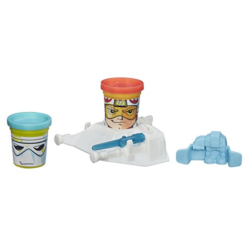 Hasbro b0595eu4 - play-doh di star wars piccoli guerrieri impastare ordinati,