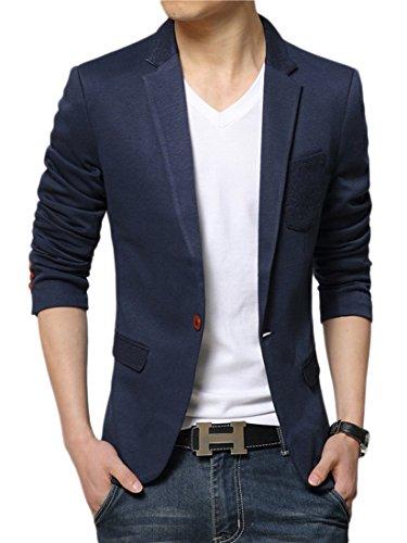 Insun -  Giacca da abito  - Classico  - Uomo Blue