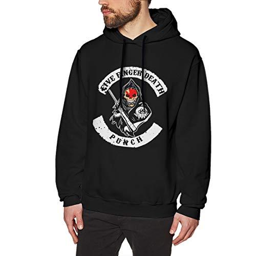 Laceymlandy Einzigartige Grafik Langarm Pullover Oberteile Black S Five Finger Death Punch Grafisch Bedruckte Hoodies Für Herren -