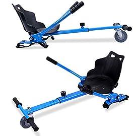 Markboard Hoverkart-Accessorio per Hoverboard,Sedia Kart Auto Bilanciamento Monopattino Elettrico,Ruota con LED,Cart,Go Cart