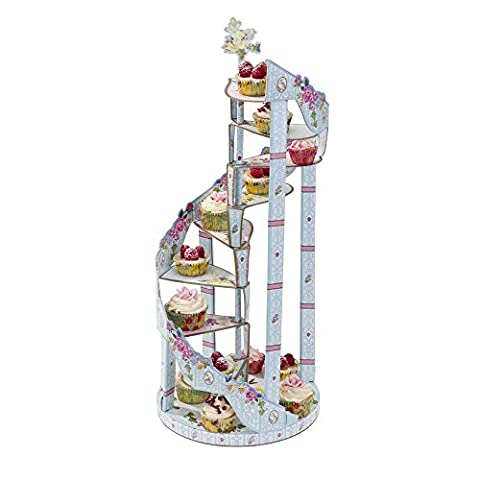 Talking Tables Truly Scrumptious Floral 3 Tier Spiral Cake Stand for a Tea Party, Birthday or Wedding
