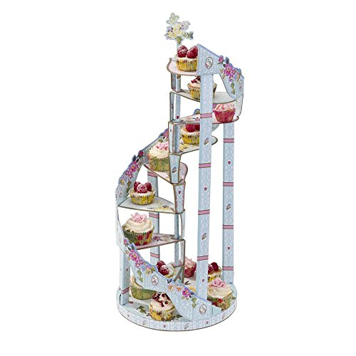 Talking Tables Truly Scrumptious Spiral Kuchenstand, Pappe, mehrfarben, 27 x 23 x 59 cm