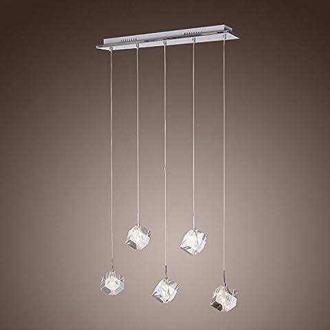Lampadario a sospensione lampadario in cristallo con 5 lampadine Luci Pendenti