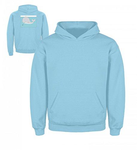 XASTY Tauchen Gerätetauchen Freitauchen Apnoe T-Shirts Hoodies Manta Hai Wal Ente Taucher - Kinder Hoodie (9 Tauchausrüstung)