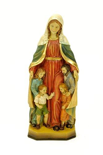 Figura Religiosa Decorativa 'Virgen María Protectora de la Familia' Esculturas Resina. 8 x 7 x 20 cm.