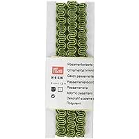 Prym-Woven Ric Rac-Bordo ornamentale, poliestere, verde, 8 mm, 1,5