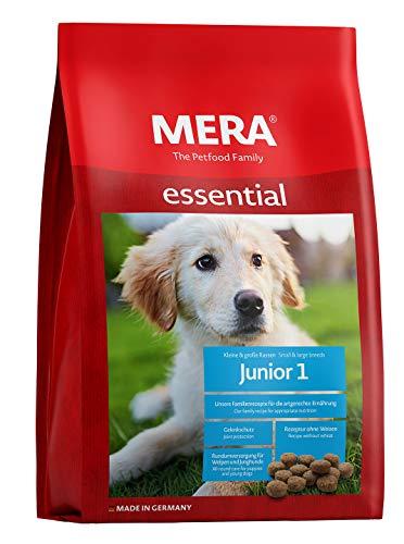 MERA essential Hundefutter Junior 1, Trockenfutter für Welpen, junge und wachsende Hunde mit einer Rezeptur ohne Weizen, 1er Pack (1 x 12.5 kg)