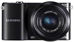 "Samsung NX1100 Kit compact hybride Ecran 3"" (7,62 cm) 20,3 Mpix USB/Wi-Fi Blanc + Objectif 20-50 mm Noir"