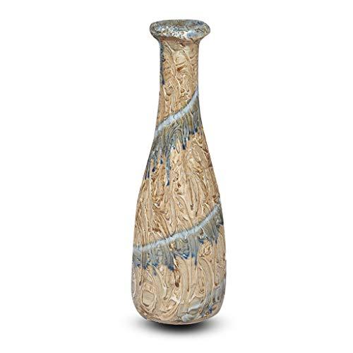 Rural Handmade Flask_008 Vase, handgefertigt, antikes Design, handbemalt, Keramik, für Wohnaccessoire, Blau/Braun