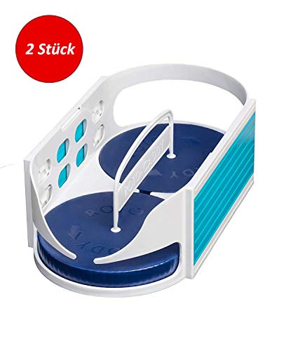 UPP Roto Caddy Küchen Gewürzregal   Ideal für Gewürze und Dosen   Als Ordnungssystem im Küchenregal   Patentierter drehbarer Organizer aus dem TV [2 Stück, Gr. S] -