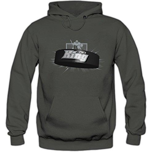 I'm a King #2 Hoodie |Eishockey | Play Offs | USA | Kapuzenpullover, Farbe:Graphit (Light Graphit F421);Größe:XXL -