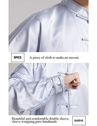 besbomig Unisex Classico Kung Fu Uniformi di Arti Marziali Unisex Arti Marziali Taichi Practice Abbigliamento per Uomo Donna