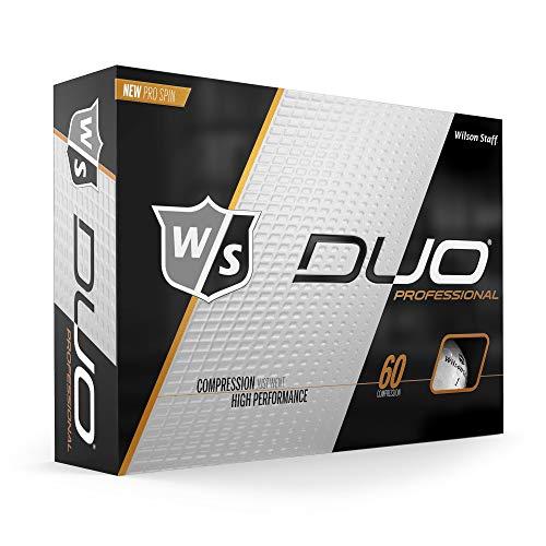 WILSON Unisex- Erwachsene W/S Duo Professional 12-Ball WH Golfball, White, -