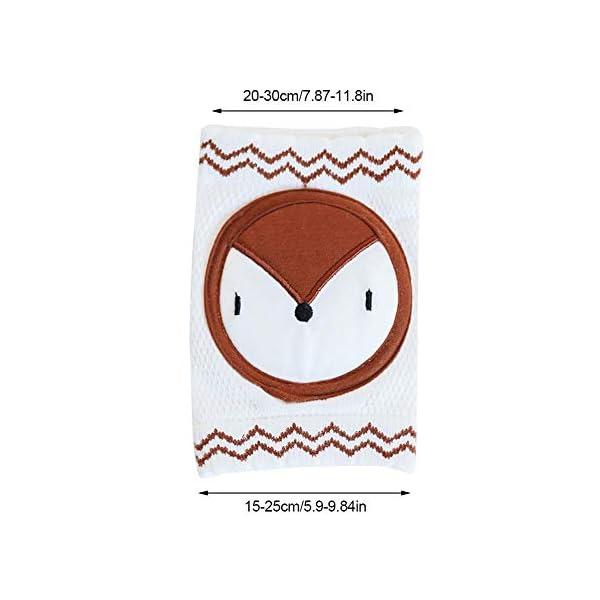 Exuberanter - 2 Rodilleras de algodón para Caminar en el Gato, Protectores de Rodilla para bebé Antideslizantes y… 5