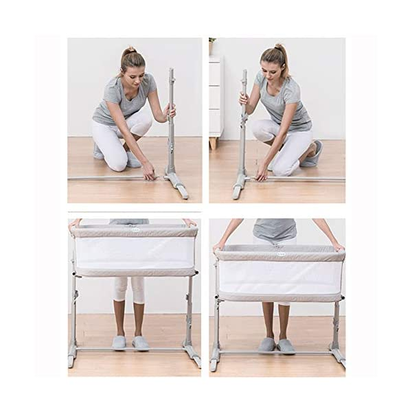 LXZ Baby Diaper Table, Portable Pillow Crib, Splicing Bed, Multi-functional Baby Bed, Newborn Cot, Small Size, Save Space LXZ The mattress cover adopts exclusive protective material. The dense structure effectively blocks dust, keeps the baby away from the respiratory tract and sensitive skin, and is waterproof and dry The crib on the mother's pillow, the baby and the parents sleep and are independent of each other, and the safety and sleep quality are improved simultaneously. C-shaped barrier-free skeleton + bed design, accessible for baby, break the distance, timely comfort, convenient night care 8