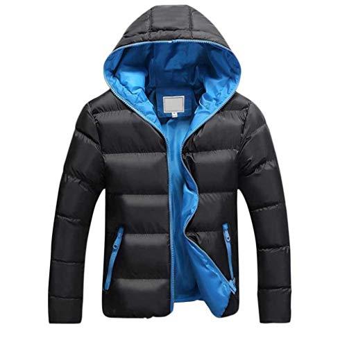 ... Giacca invernale Cappuccio da uomo antivento KOLY Uomo Imbottito  Cappotto Con Cappuccio Collare Eco-pelliccia Piumini ... 4629bffaf70