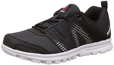 Reebok Men's Run Cruiser Black, Gravel, Metallic Silver and White Running Shoes - 6 UK/India (39 EU)(7 US)