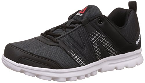 Reebok Men's Run Cruiser Black, Gravel, Metallic Silver and White Running Shoes - 9 UK/India (43 EU) (10 US)