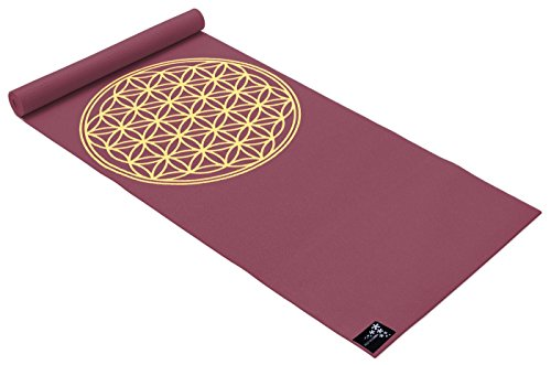 Yogistar Tapis de yoga Basic Flower of Life bordeaux