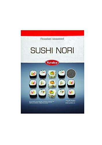 Hojas de Nori Seaweed para Sushi - 5 piezas - Perfecto para rollos de sushi (Pack de 1)