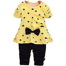 Conjuntos de bebé,Internet en forma de corazón impresión arco lindo 2PCS camiseta + pantalones