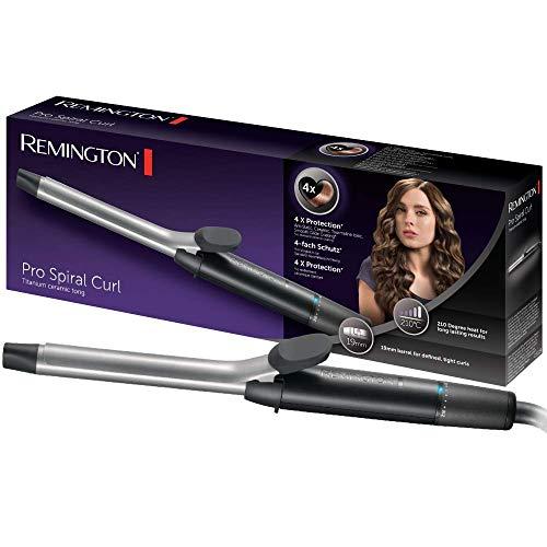 Remington Pro Spiral Curl CI5519  Rizador de pelo, Pinza de 19 mm, Cerámica y Titanio, Punta Fría...